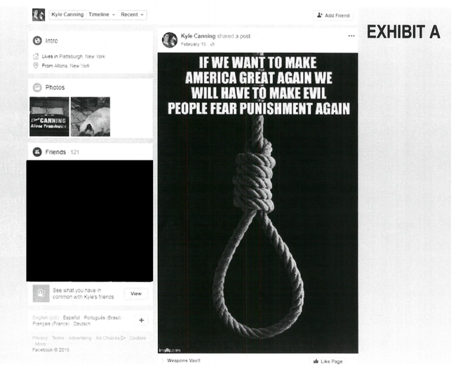 "New York Judge Barred From Bench After Posting Noose Image and ""Make America Great Again"" Caption"