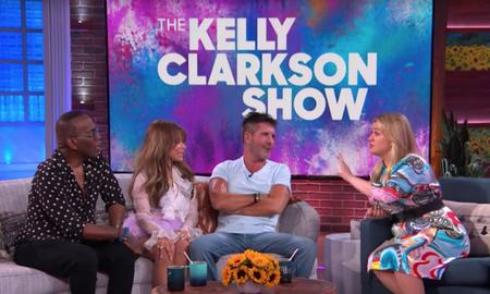 Entertainment News - Kelly Clarkson Reunites With Simon Cowell, Paula Abdul & Randy Jackson