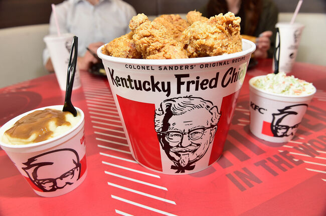 KFC Menu Items and Restaurant-getty images