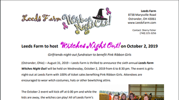 Community Break - 10.2.19 Witches Night Out At Leeds Farm
