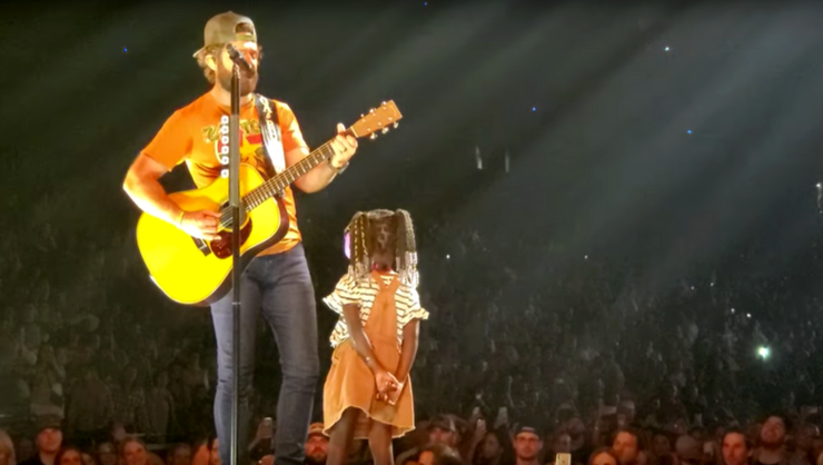 Thomas Rhett Sings 'To The Guys That Date My Girls' To Daughter On Stage