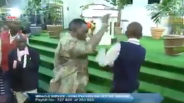 Chuck Dizzle - Pastor Slaps People During Church In The Name of Jesus