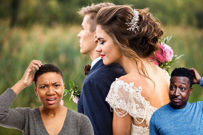 Embarrassing Wedding Photo Optical Illusion Makes Bride's Booty Look Giant