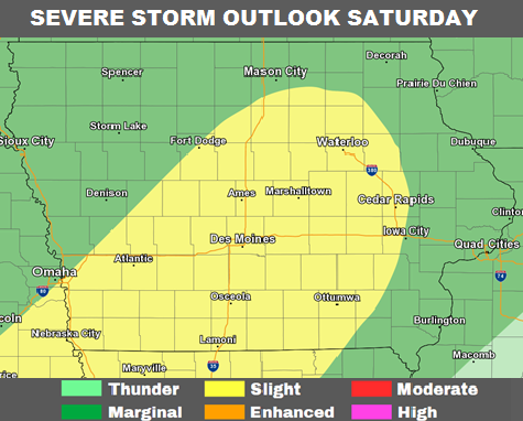 National Weather Service - Severe Storms possible