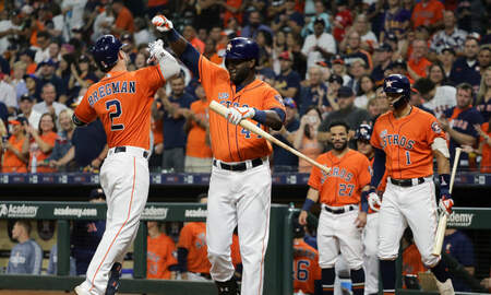 None - Astros Jump All Over Angels