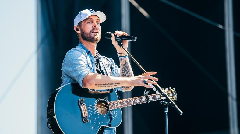 Brett Young Prompts Crowd To Slow Dance At iHeartRadio Daytime Stage