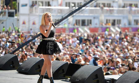 Entertainment News - Zara Larsson Sparkles at the 2019 iHeartRadio Daytime Stage