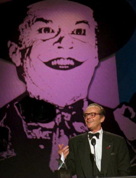 US actor Jack Nicholson addresses the audience aft