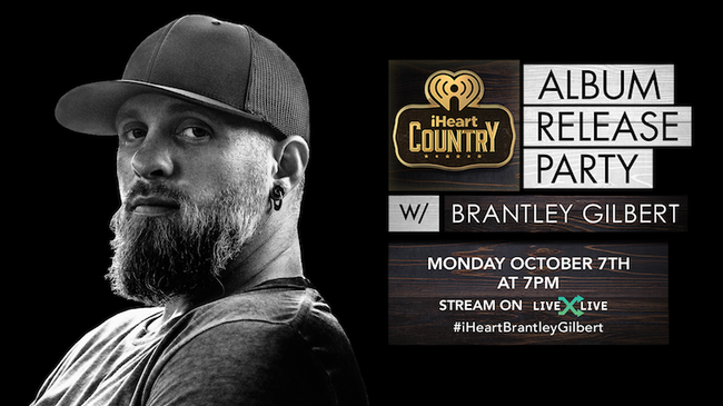 Brantley Gilbert to Celebrate 'Fire & Brimstone' During Album Release Party
