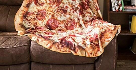 This Cozy Blanket Will Turn You Into A Giant Pizza I Need
