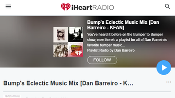 Dan Barreiro - PLAYLIST: Bump's Eclectic Music Mix [Dan Barreiro - KFAN]