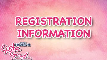 The Law Offices of Ron Sholes Sista Strut! - SISTA STRUT REGISTRATION INFORMATION