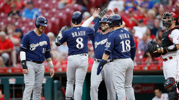Brewers - Brewers clinch playoff spot with 9-2 win over Reds Wednesday
