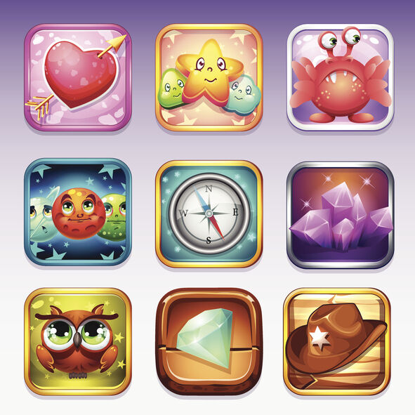 Set icons for app store and Google Play to computer