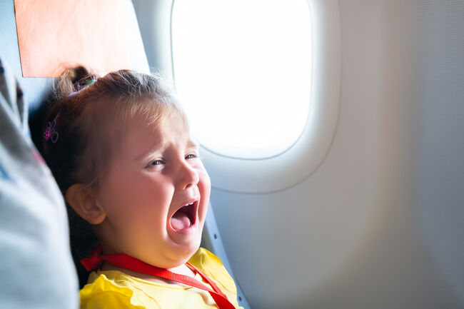 Girl Screaming On Airplane