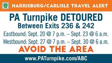 Reading and Harrisburg Breaking News - Avoid PA Turnpike Between Exit 236-242 Westbound This Weekend