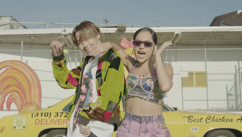 Watch Becky G & BTS' J-Hope Do The 'Chicken Noodle Soup' In New Music Video | iHeartRadio
