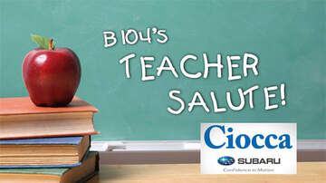 Mike and Steph - B104's Teacher Salute Program