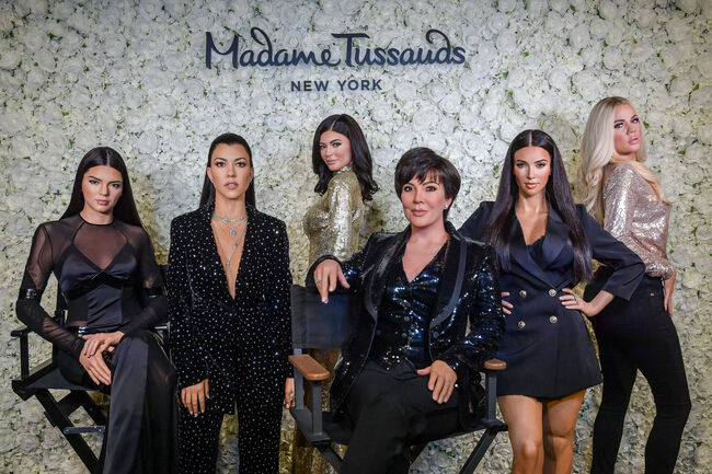 For The First Time Ever, All Six Kardashian Jenner Figures Are Together, Only At Madame Tussauds New York