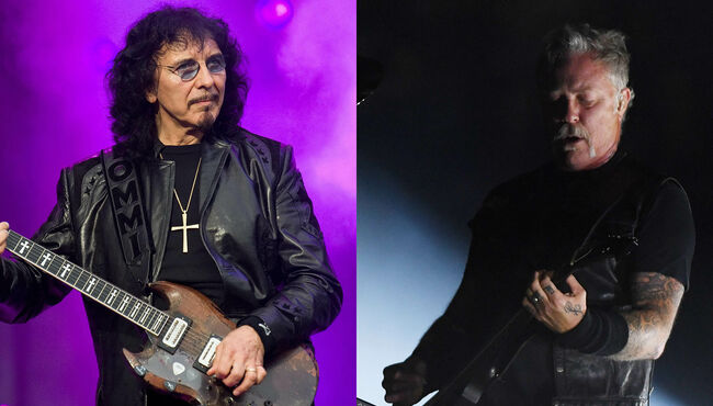 Veteran rock guitarist Tony Iommi perfor