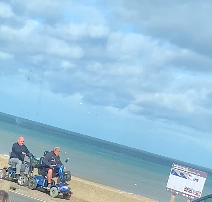 Riot Hyatt - **WATCH**Men on Mobility Scooters Spar on Beach in England