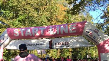 Photos - Adam Rivers and KC101 at Seymour Pink 5K on 10/5/19