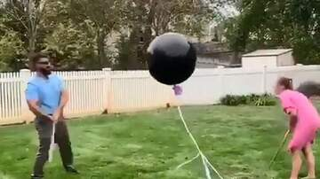 Hilary - Balloon doesn't want to be a part of gender reveal