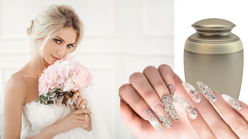 Leigh Ann and Jeremy - Bride Puts Her Dad's Ashes In Her Wedding Day Nails
