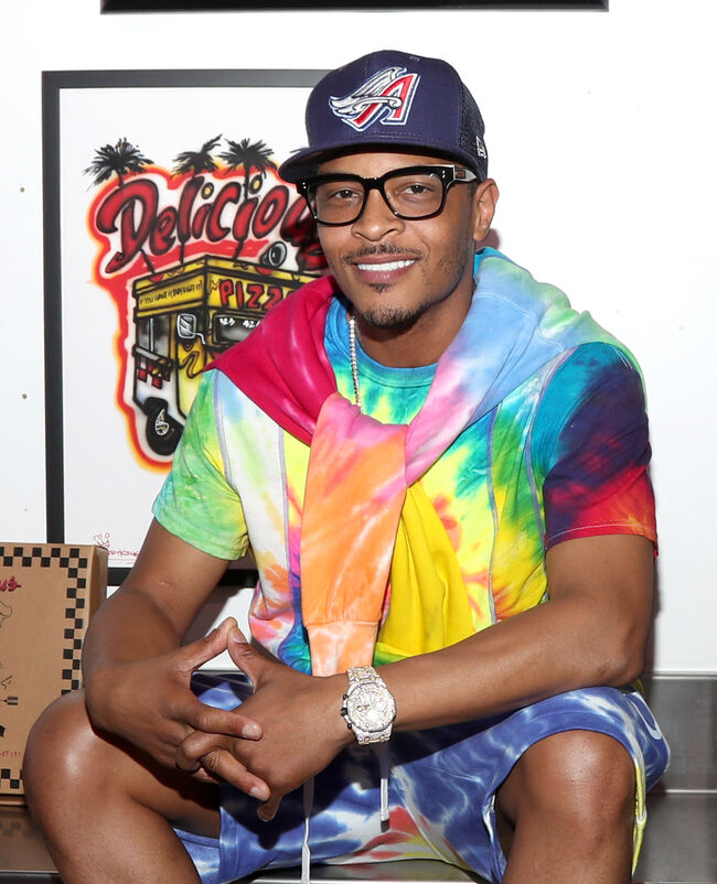 Little Trap House Exhibition Opening Hosted By TI & Karen Civil At Delicious Vinyl