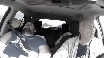 Chuck Dizzle - Elderly Man Almost Crashes His Car After Falling Asleep