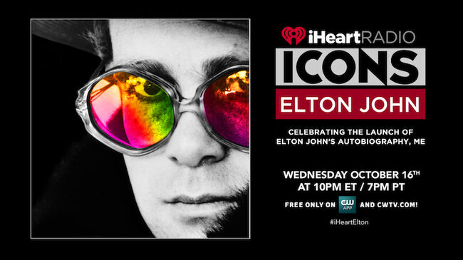 Elton John to Celebrate Autobiography During iHeartRadio ICONS Event