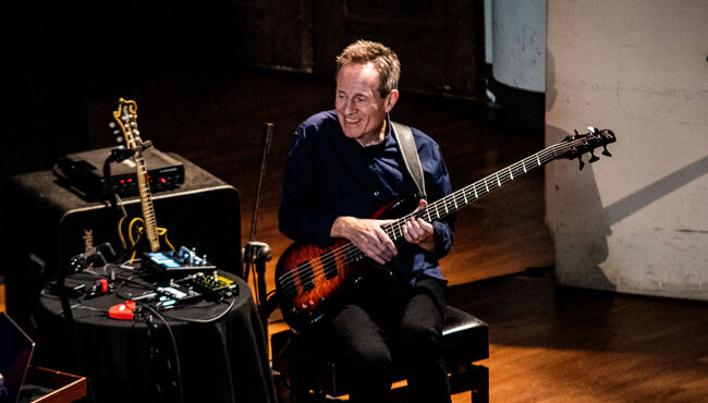 John Paul Jones of Led Zeppelin performs in Turin at