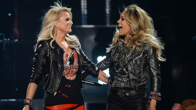 Miranda Lambert Boosts Carrie Underwood For CMA Entertainer Of The Year