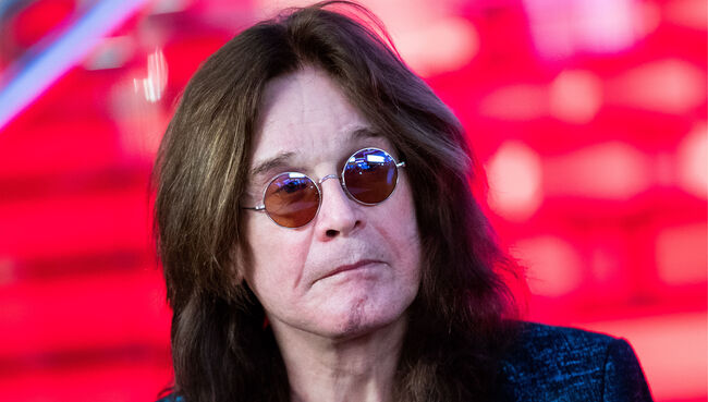 British musician Ozzy Osbourne signs star at Moscow Walk of Fame