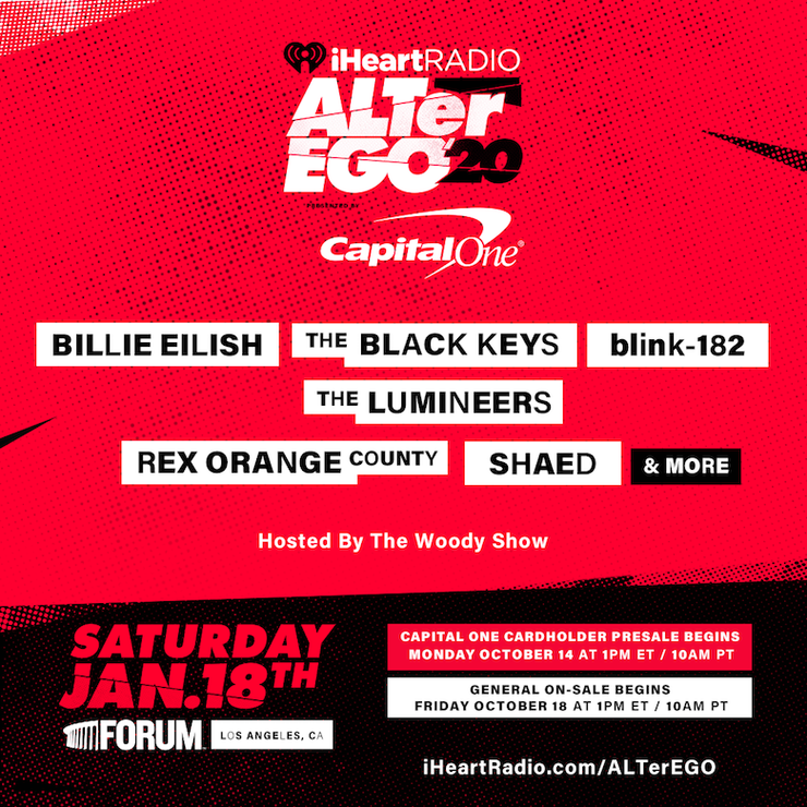 2020 iHeartRadio ALTer EGO Lineup