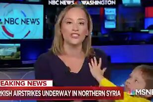 Kid Interrupts His Reporter Mom Live On MSNBC
