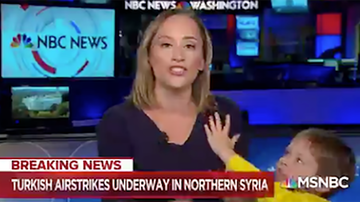 Weird News - Kid Interrupts His Reporter Mom Live On MSNBC