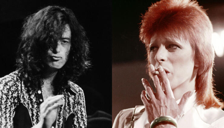 That Time Jimmy Page Tried To Communicate Telepathically With David Bowie | iHeartRadio