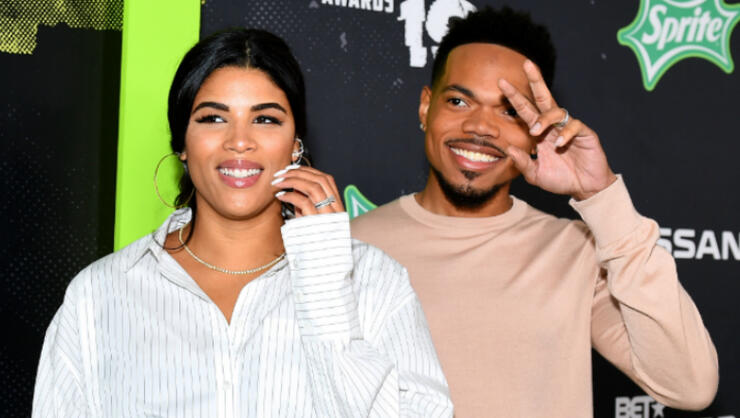 Chance The Rapper Shares Sweet Photo Of Newborn Daughter Wife Iheartradio
