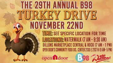 None - The 29th Annual B98 Turkey Drive for United Methodist Open Door