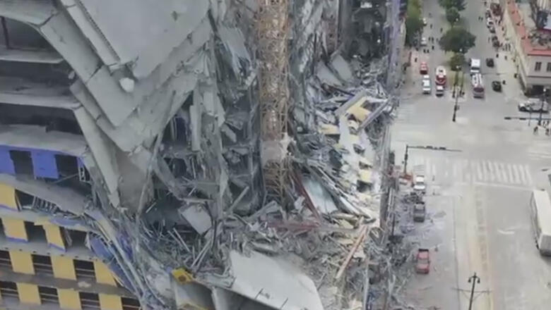 Crane Collapse At Hard Rock Hotel Leaves 2 People Dead | iHeartRadio