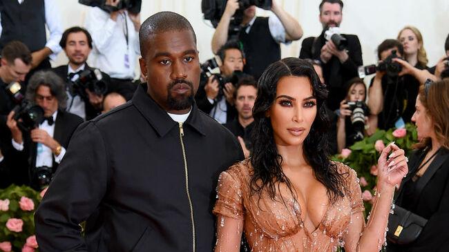 Kim Kardashian & Kanye West Go Head-To-Head Over 'Too Sexy' Met Gala Look