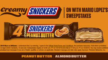 Contest Rules - ON with Mario Lopez's Creamy SNICKERS®Sweepstakes Rules