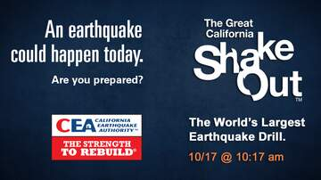 #iHeartSoCal - The Great California ShakeOut Returns on Oct. 17 at 10:17 a.m.