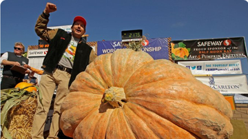BC - Giant Pumpkin Weighing 2,175 Pounds Sets Record