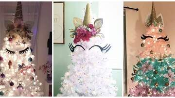 Suzette - Unicorn Christmas Trees Are A Major Trend This Holiday Season; Want One?