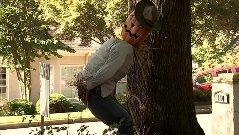 Man Censors His 'Offensive' Halloween Display Following HOA Complaint | iHeartRadio