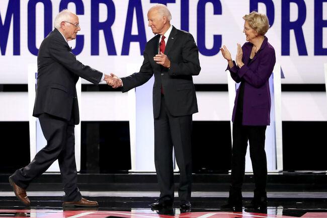 Democratic Presidential Candidates Participate In Fourth Debate In Ohio