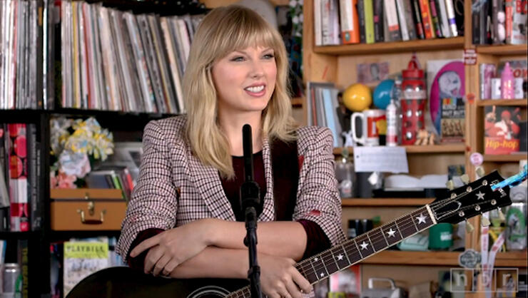 Watch Taylor Swift Perform 'Lover,' 'All Too Well' & More On Tiny Desk | iHeartRadio
