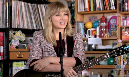 Entertainment News - Watch Taylor Swift Perform 'Lover,' 'All Too Well' & More On Tiny Desk